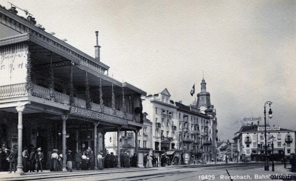 Hafenbahnhof um 1910