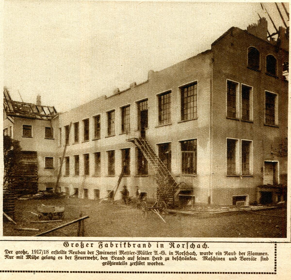 Fabrikbrand in Rorschach
