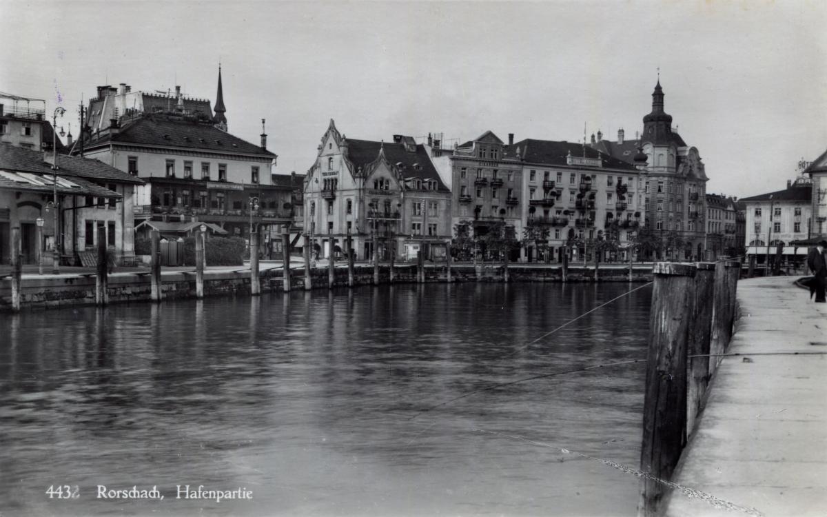Rorschach Hafenpartie  um 1880